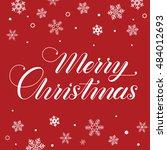 merry christmas. christmas... | Shutterstock .eps vector #484012693
