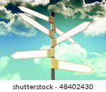 3d direction blank signal and... | Shutterstock . vector #48402430