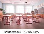 interior of an empty school... | Shutterstock . vector #484027597
