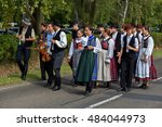 traditional hungarian harvest... | Shutterstock . vector #484044973