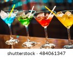 multicolored cocktails at the... | Shutterstock . vector #484061347
