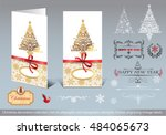 christmas decoration collection ... | Shutterstock .eps vector #484065673