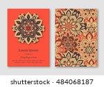 set of cards  flyers  brochures ...   Shutterstock .eps vector #484068187
