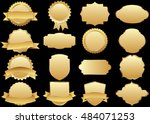 label vector icon set gold... | Shutterstock .eps vector #484071253