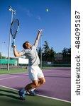 professional tennis player is... | Shutterstock . vector #484095187