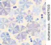 seamless vector decorative... | Shutterstock .eps vector #484097533