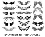 artistic vector  black and... | Shutterstock .eps vector #484099363