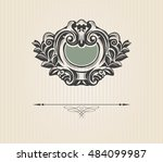 vintage luxury decorative... | Shutterstock .eps vector #484099987