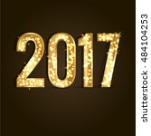 2017 year  gold vector... | Shutterstock .eps vector #484104253