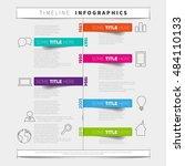 vector timeline infographic... | Shutterstock .eps vector #484110133