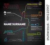 minimalist cv  resume template... | Shutterstock .eps vector #484110547