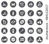 fishing icons | Shutterstock .eps vector #484112017