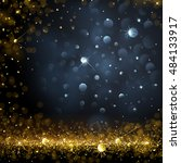 christmas background with bokeh ... | Shutterstock .eps vector #484133917