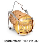 3d illustration of new year's... | Shutterstock . vector #484145287