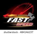 fast speed concept vector | Shutterstock .eps vector #484146157