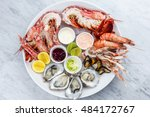 Fresh Seafood Plate With...