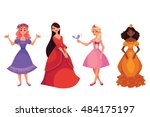 cute collection of beautiful... | Shutterstock .eps vector #484175197