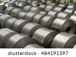 cold rolled steel coil at... | Shutterstock . vector #484191397