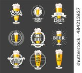 vector illustration with beer... | Shutterstock .eps vector #484212637