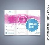 brochure tri fold template ... | Shutterstock .eps vector #484219717