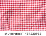the crumpled checkered... | Shutterstock . vector #484220983