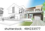 townhouse  3d illustration | Shutterstock . vector #484233577