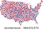 american map fill with american ...   Shutterstock .eps vector #484251373