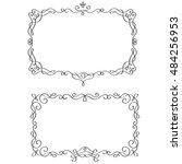 set of vintage calligraphy... | Shutterstock .eps vector #484256953