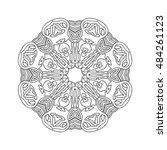 hand drawn mandalas. decorative ...   Shutterstock .eps vector #484261123