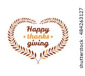 happy thanksgiving day icon ... | Shutterstock .eps vector #484263127