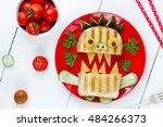 funny breakfast for children  ...   Shutterstock . vector #484266373