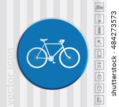 retro bicycle icon | Shutterstock .eps vector #484273573