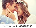 summer holidays  love  romance... | Shutterstock . vector #484282243