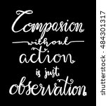 compassion without action is... | Shutterstock .eps vector #484301317