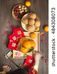 Flat Lay Chinese New Year New...