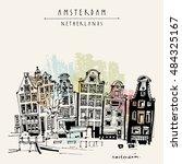amsterdam  holland  netherlands ... | Shutterstock .eps vector #484325167