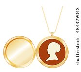 locket jewelry  vintage gentle... | Shutterstock . vector #484329043