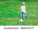 Happy Boy Playing With Soccer...