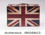 Vintage Travel Bag With Flag O...