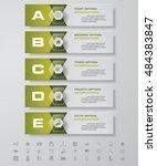 design clean number banners... | Shutterstock .eps vector #484383847