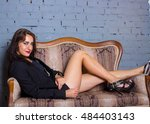 beautiful sexy stylish... | Shutterstock . vector #484403143