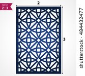 laser cut pattern template.... | Shutterstock .eps vector #484432477