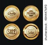 sale luxury golden labels... | Shutterstock .eps vector #484447693