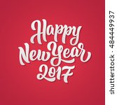 happy new year 2017 lettering... | Shutterstock .eps vector #484449937
