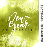 happy new year and merry... | Shutterstock .eps vector #484482073