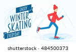 flyer or poster template with... | Shutterstock .eps vector #484500373