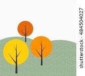 simple autumn tree background... | Shutterstock .eps vector #484504027