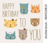 happy birthday card | Shutterstock .eps vector #484510813