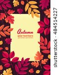 various autumn leaves with...   Shutterstock .eps vector #484514227