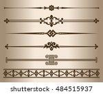 decorative elements. design... | Shutterstock .eps vector #484515937